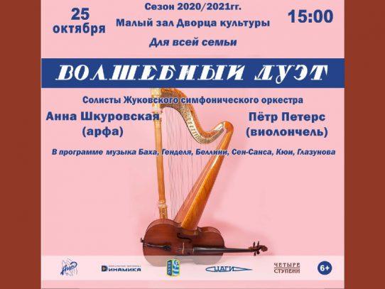 25 октября 15:00. Концерт солистов Жуковского симфонического оркестра. «Волшебный дуэт»