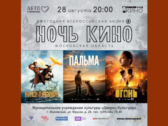 28 августа с 20:00. Всероссийская акция «Ночь Кино 2021»